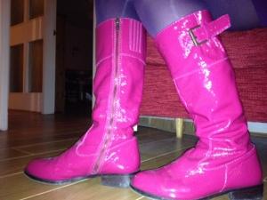 pink boots