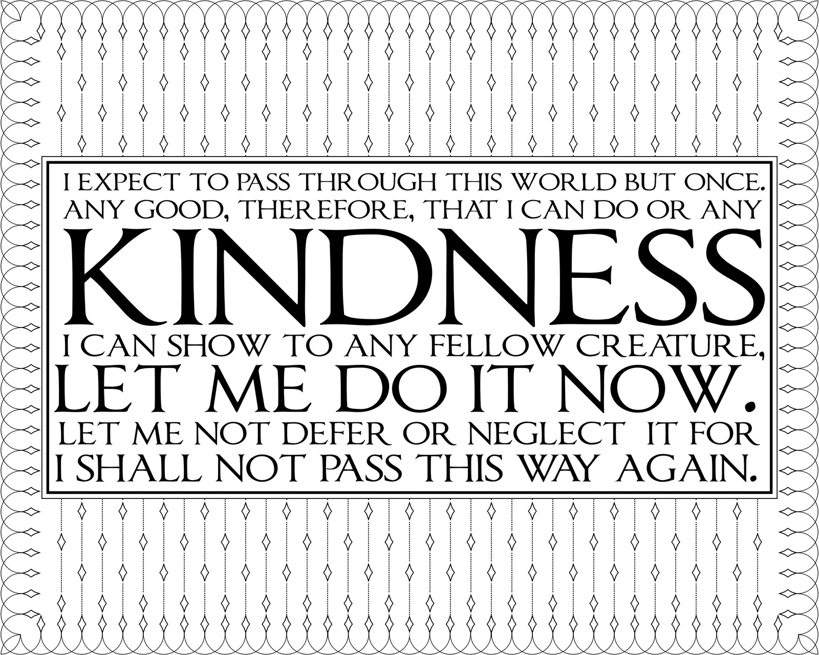 Coloring pages kindness - Image